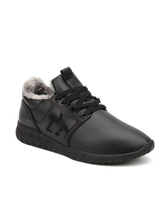 Fuzzy PU Leather Casual Shoes - Black 44 geniue stockist sale online GduVuquxC