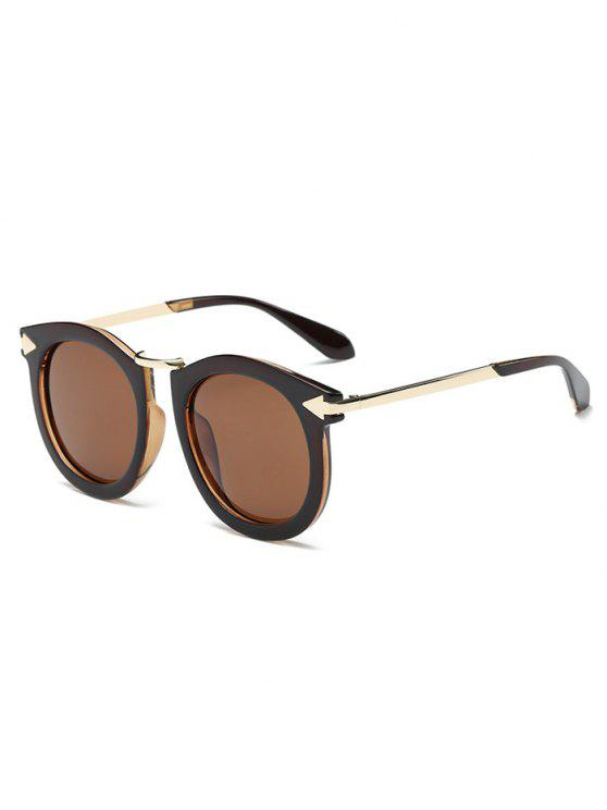 lunettes de soleil ovales du marque de flèche - Thé