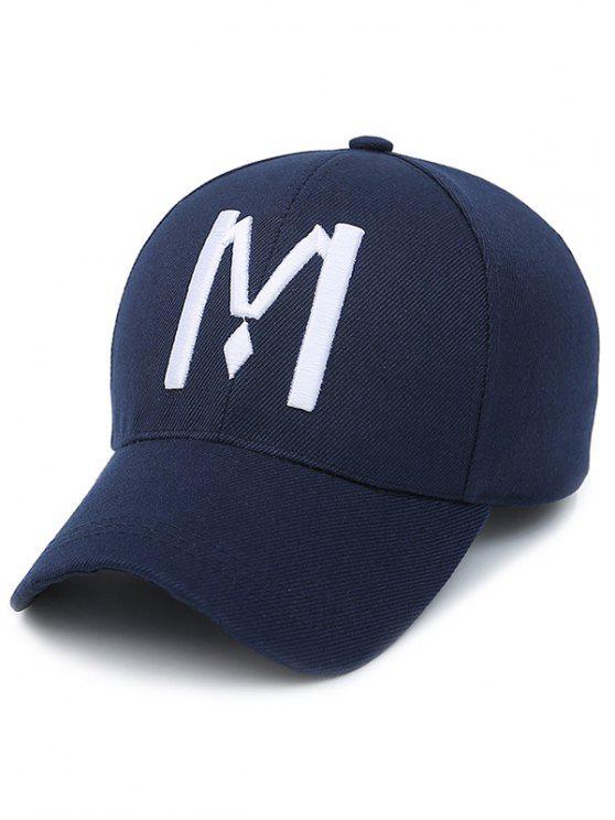casquette de base-ball avec motif à lettre M - Bleu Violet