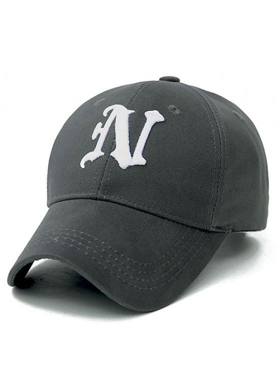 deep crown baseball hats caps ladies letter cap gray extra
