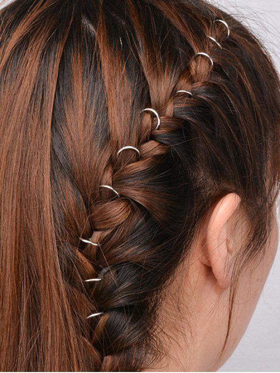 sale 10 PCS Circle Adorn Hair Accessories - SILVER