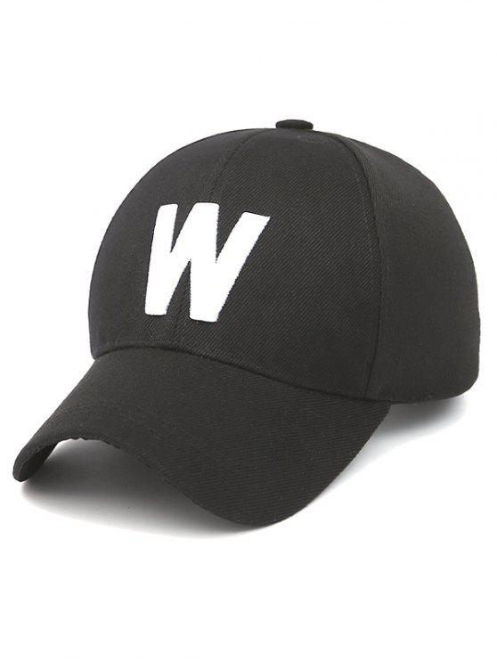 2019 Letter W Baseball Hat In BLACK  d72ddf7ddb7