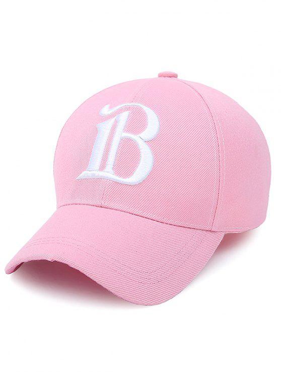 trendy B Letter Baseball Hat - SHALLOW PINK