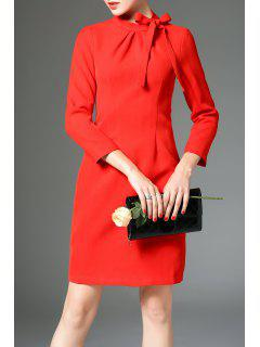 Bow Tied Sheath Dress - Jacinth S
