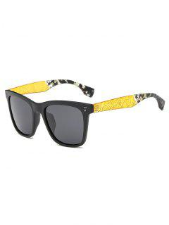 Crack And Camouflage Panel Golf Sunglasses - Black