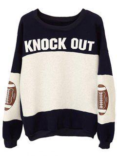 Color Block Surdimensionnées Sweatshirt - Noir