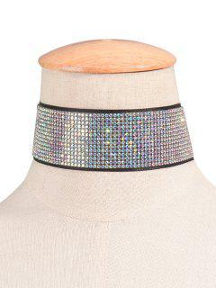 Rhinestone Studded Adorn Choker Necklace
