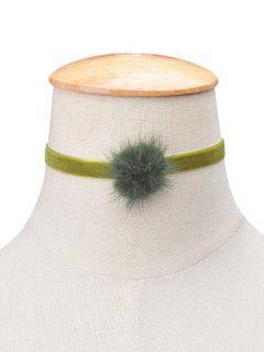 Flannelette Ball Choker - Apple Green