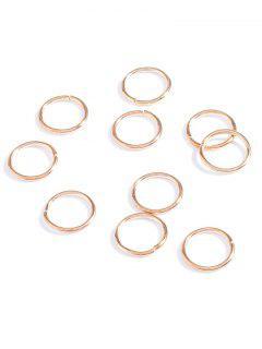 10 PCS Circle Adorn Hair Accessories - Golden
