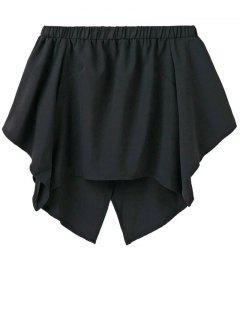 Off The Shoulder Crossover Back Smock Top - Black M