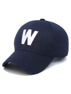 Letter W Baseball Hat - Purplish Blue