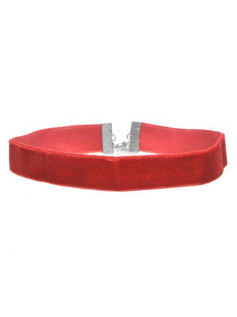shop Vintage Velvet Choker - RED  Mobile