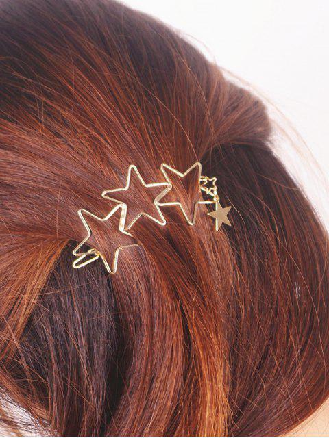 Epingle à cheveux en forme des étoiles creux - Or  Mobile