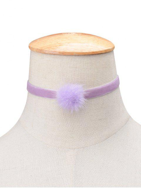 fancy Flannelette Ball Choker - PURPLE  Mobile