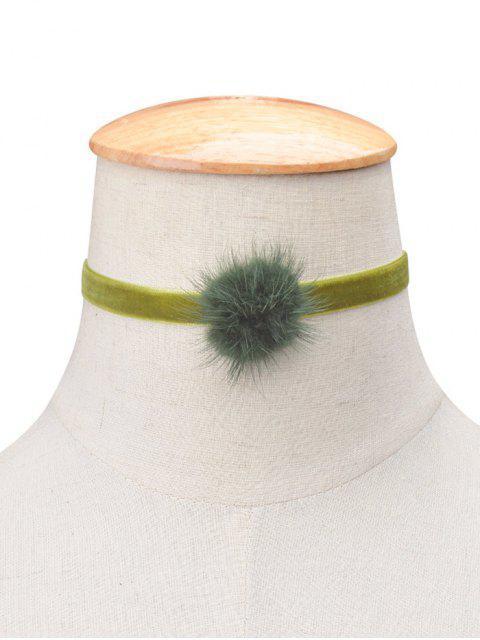 Flanelle Boule Choker - Pomme Verte  Mobile