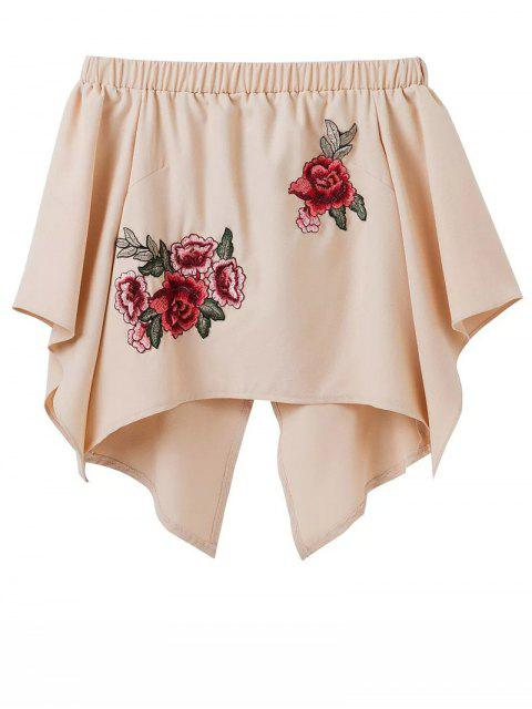 fancy Crossover Back Off The Shoulder Smock Top - YELLOWISH PINK M Mobile