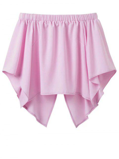 hot Off The Shoulder Crossover Back Smock Top - PINK S Mobile
