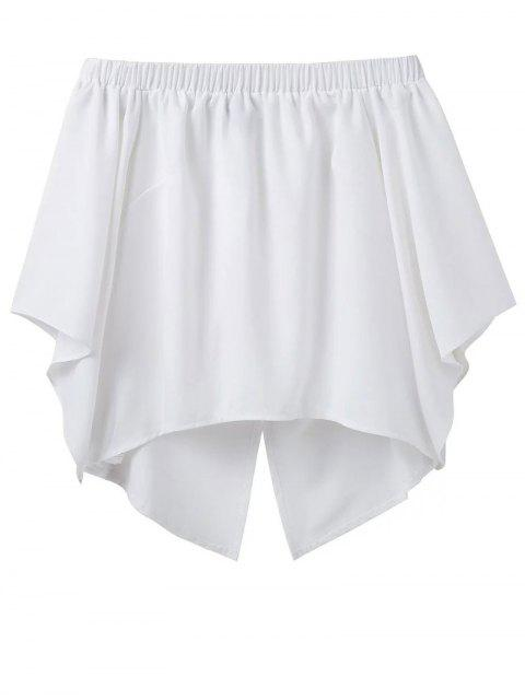 outfit Off The Shoulder Crossover Back Smock Top - WHITE L Mobile