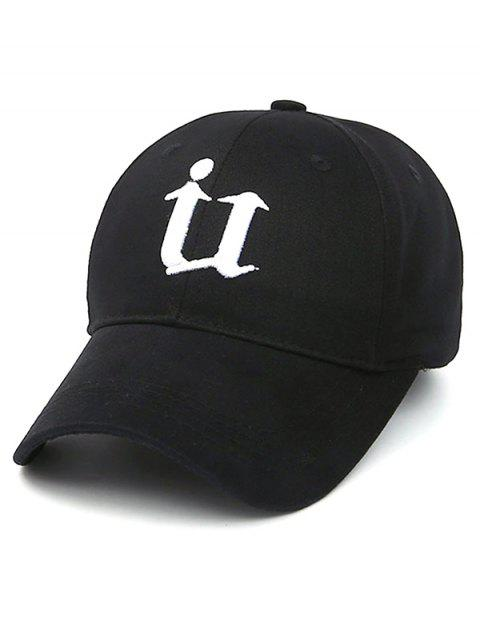 chic Letter U Baseball Hat - BLACK  Mobile