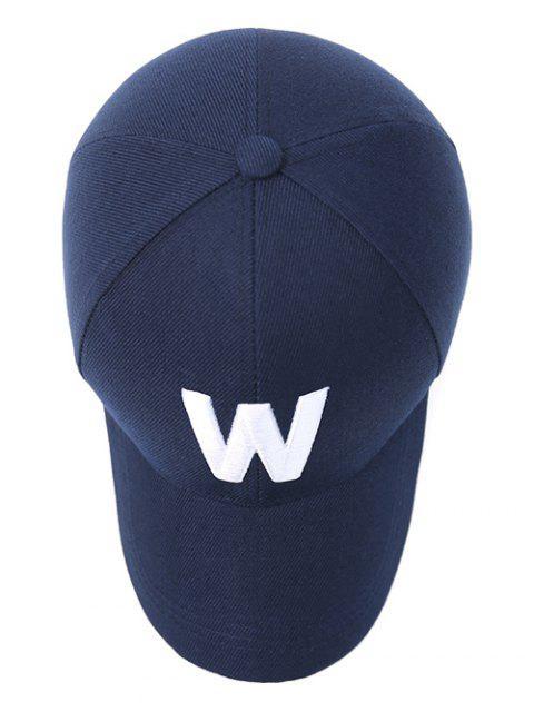Casquette avec broderie du lettre W - Bleu Violet  Mobile