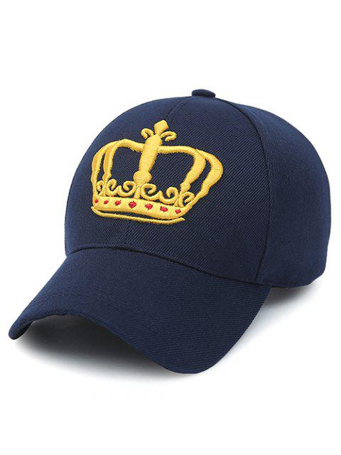 Casquette de baseball brodé de couronne - Bleu Violet  Mobile