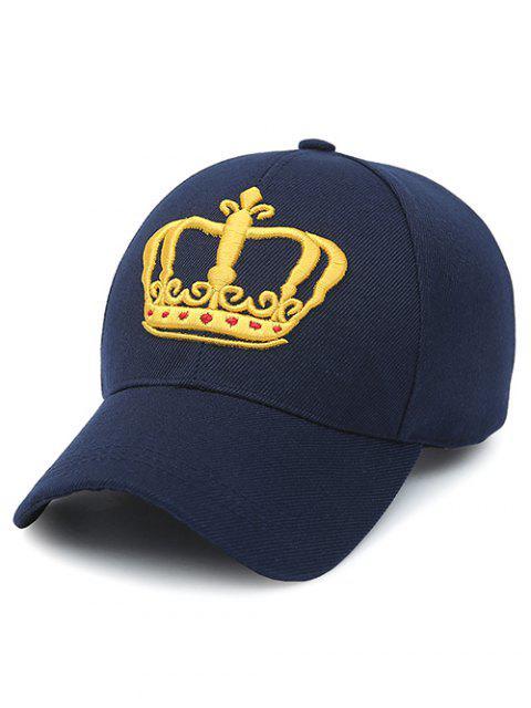 Stickerei-Crown-Baseball-Cap - Schwarzblau  Mobile