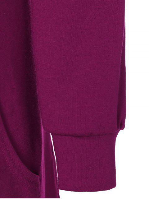 sale Printed Christmas Hoodie - WINE RED M Mobile