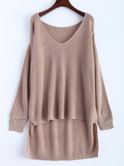 Share2Sale High Low Oversized Pullover Sweater