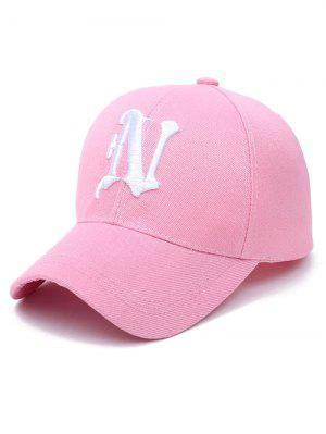 N Letter Baseball Cap - Light Pink