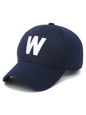 Letra W del sombrero de béisbol