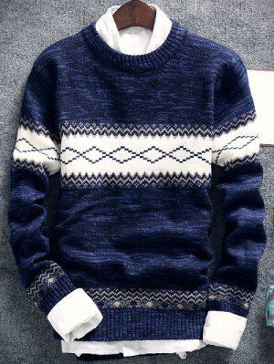 Geometrische Muster Space-Dye-Crew Neck Sweater
