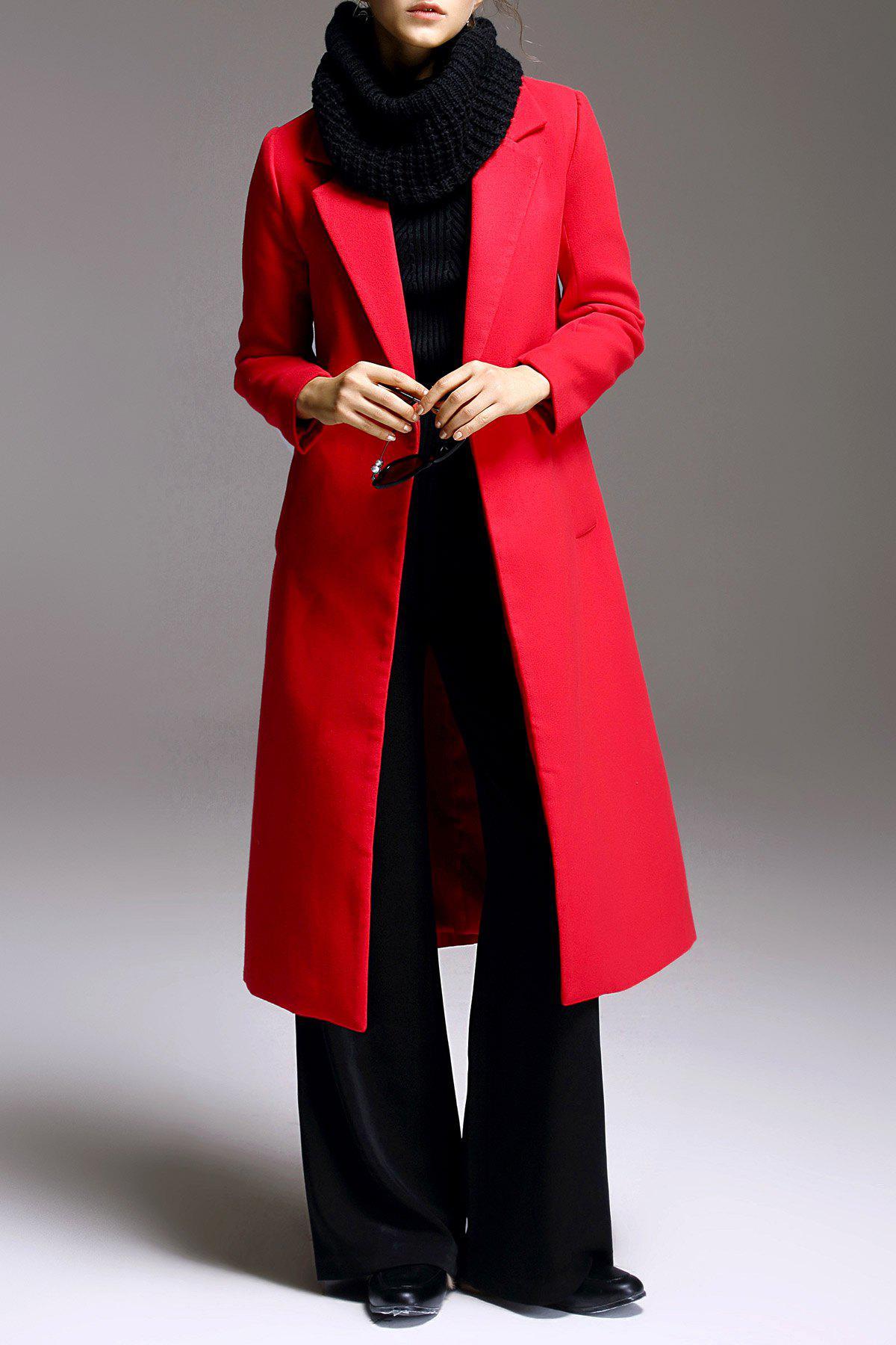 A Line Fitting Woolen Coat 200966403