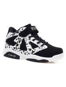 أحذية رياضي كتلة اللون سويدي - أبيض وأسود 40