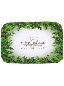 شجرة عيد الميلاد عدم الانزلاق امتصاص الماء السجاد للحمام - أخضر