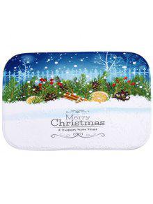 الشتاء الثلوج عدم الانزلاق امتصاص الماء السجاد عيد الميلاد للحمام - أزرق