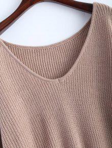 High Low Oversized Pullover Sweater KHAKI: Sweaters ONE SIZE | ZAFUL