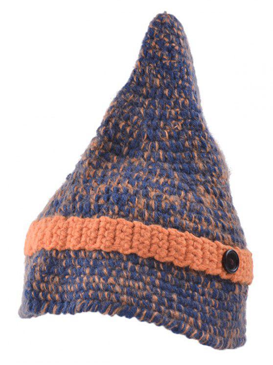 Botón puntiagudo Knit Beanie - Darksalmon