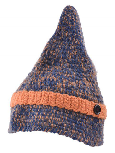 lady Button Pointed Top Knit Beanie -   Mobile