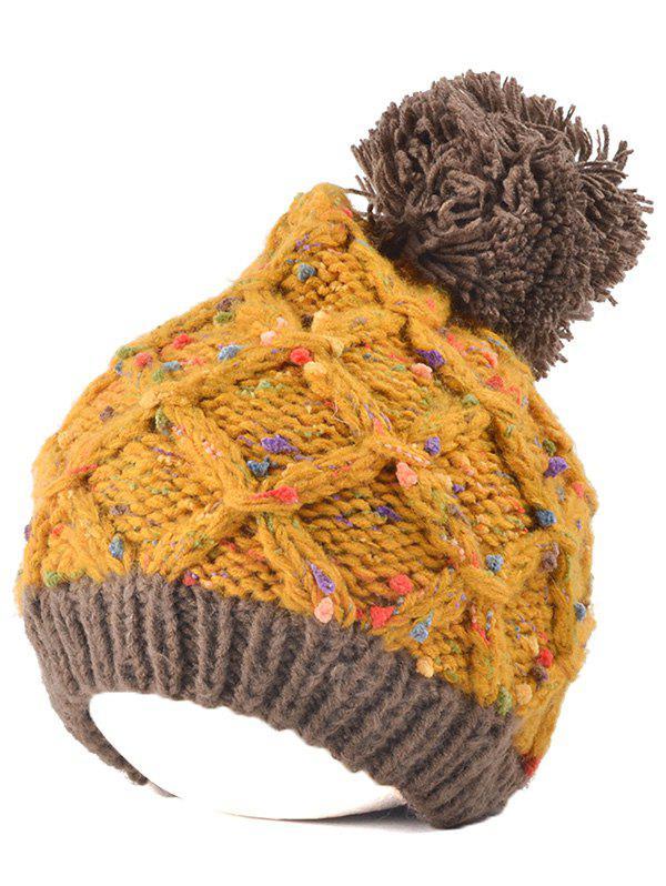 Bonnet femme tricoté pompon