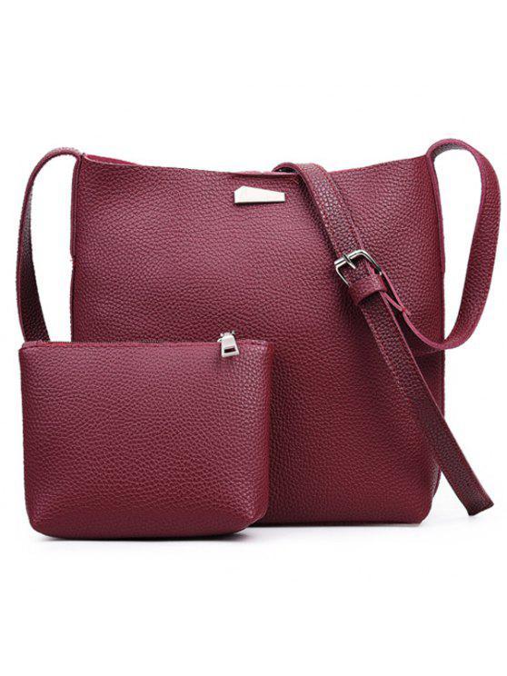 معدن البريدي الكتف مخلب حقيبة مجموعة - أحمر