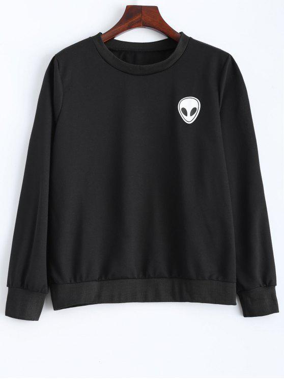 affordable Fitting Skull Sweatshirt - BLACK S