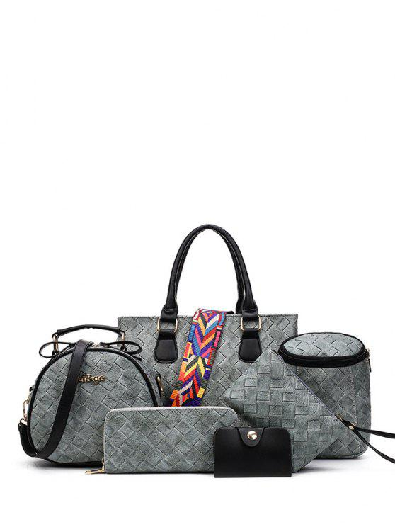 Tejiendo bolso con correa de color - Gris