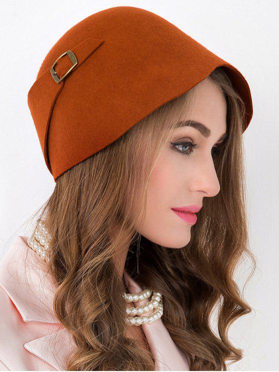 trendy Winter Wool Bowler Cloche Hat - JACINTH