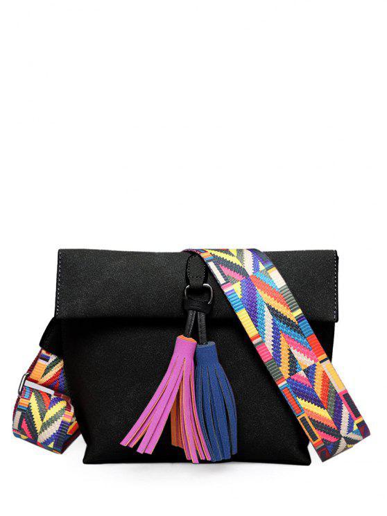Borlas de cierre magnético del bloque del color del bolso de Crossbody - Negro