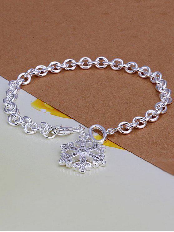 Barcelet charmant motif flocons de neige Noël - Argent