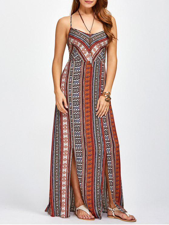 fancy Sweetheart Cami Maxi Bohemian Dress - ORANGE RED L