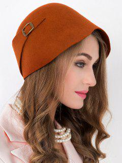 Winter Wool Bowler Cloche Hat - Jacinth