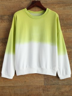Ombre Pullover Sweatshirt - Lemon Green