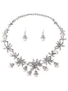 Diamantes De Imitación Del Collar Campanula - Plata