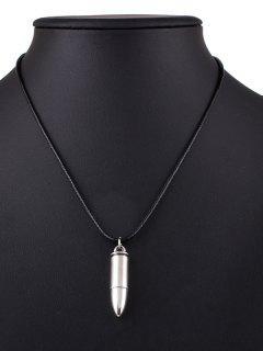 Bullet Alloy Necklace - Black